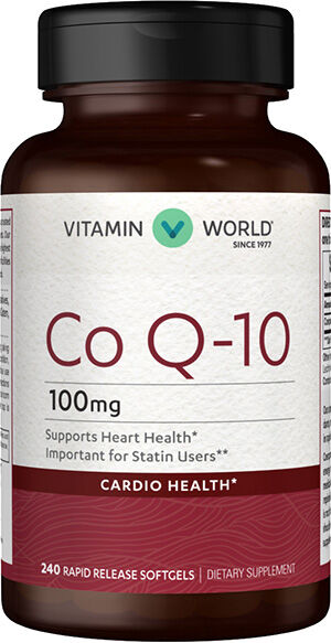 Vitamin World Co Q-10 100 mg. 240 softgels Coenzyme Q-10
