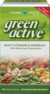 Vitamin World Green Source® Multi Vitamins and Minerals 60 Caplets Broccoli, Cabbage, Brussels Sprouts, grapefruit extract