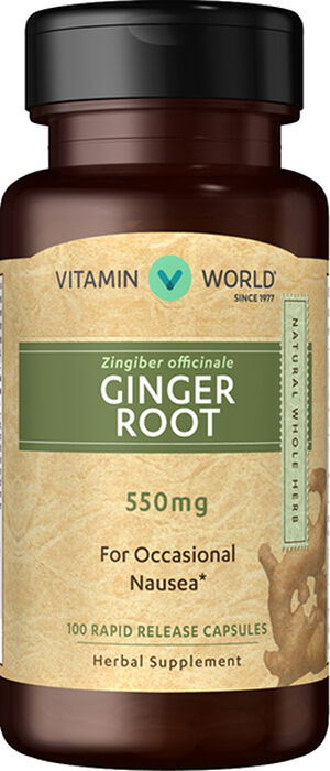 Vitamin World Ginger Root 550mg