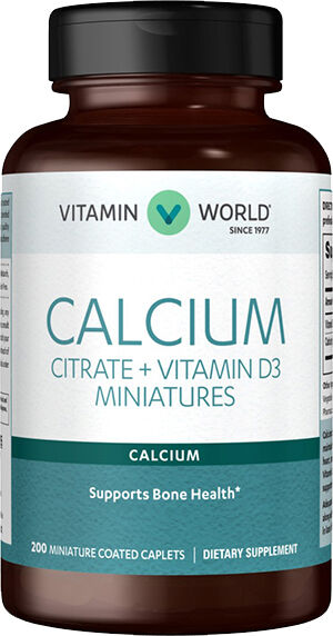 Vitamin World Calcium Citrate + Vitamin D 200 Capsules