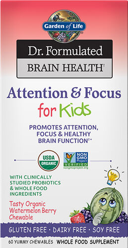 Garden of Life Dr. Formulated Brain Health Memory & Focus for Kids