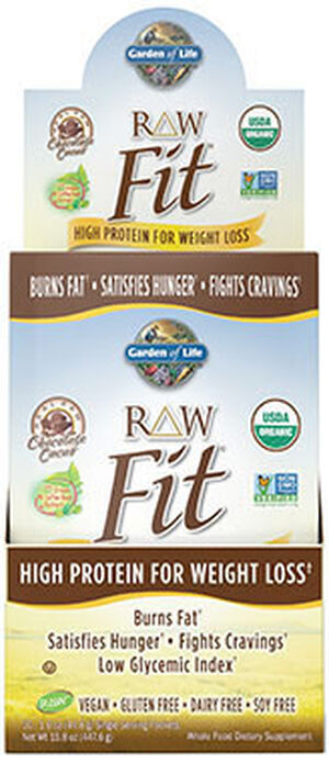 Garden Of Life RAW Fit Protein Packets 10 Packets Chocolate Cacao