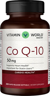 Vitamin World Q-Sorb™ Co Q-10 50 mg. 200 Softgels