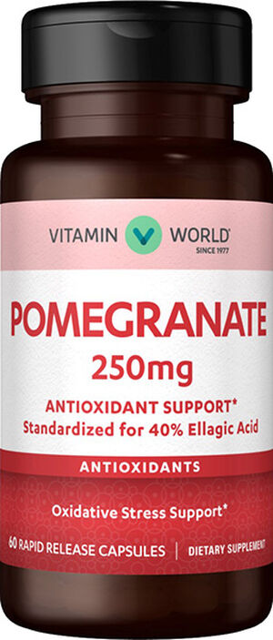 Vitamin World Pomegranate 250 mg. 60 Capsules