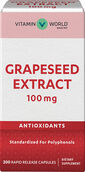 Vitamin World Grapeseed Extract 100mg 200 Capsules 100mg.