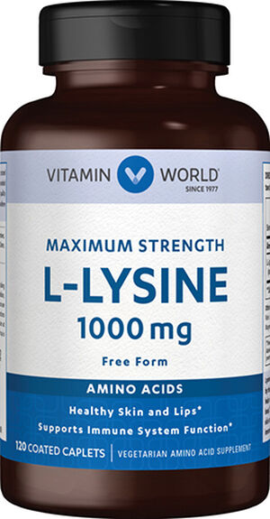 Vitamin World L-Lysine 1000 mg. 120 Caplets