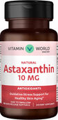 Vitamin World Natural Astaxanthin Skinguard 10 mg. 60 Softgels
