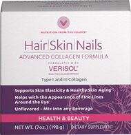 Vitamin World Hair Skin and Nails Advanced Collagen 7 oz. Powder