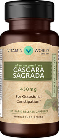 Vitamin World Cascara Sagrada 450mg 100 Capsules 450mg.