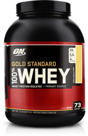 5ba768b1d Optimum Nutrition Gold Standard 100% Whey Protein French Vanilla Crème 5  lbs. 5 lbs