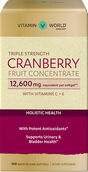 Vitamin World Triple Strength Cranberry Fruit Concentrat 12600 mg. 100 Softgels