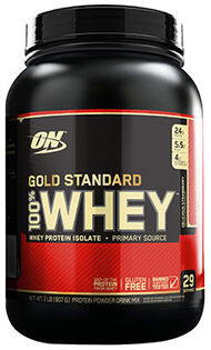 Gold Standard 100% Whey Strawberry 2 lbs., , hi-res