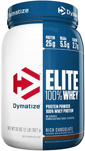 Dymatize Elite 100% Whey Protein 2 lbs. Rich Chocolate 2 lbs. Powder