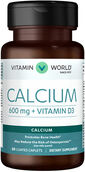 Vitamin World Calcium 600 mg + Vitamin D3 60 Caplets 600mg.