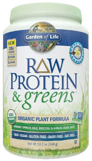 Garden Of Life RAW Protein & Greens Vanilla 19 oz. Powder
