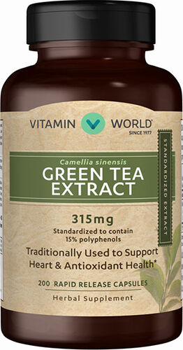 Vitamin World Green Tea Extract 315 mg.