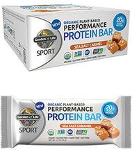 Garden of Life Sport Organic Plant-Based Performance Protein Bars Sea Salt Caramel