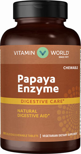 Vitamin World Papaya Enzyme 500 Tablets