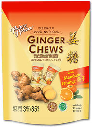 Prince of Peace Ginger Chews Mandarin Orange 3 oz. Chewables