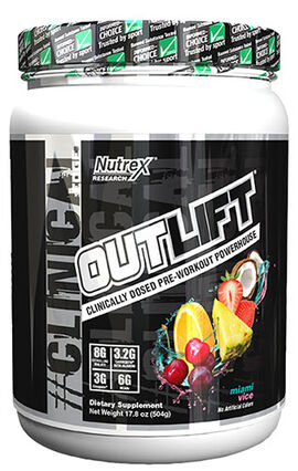 Outlift Pre-workout Miami Vice 17.8 oz.