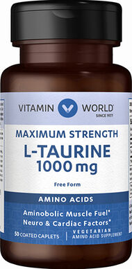 Vitamin World L-Taurine 1000mg. 50 Caplets