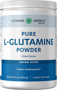 Vitamin World L-Glutamine Free Form Powder 4500 mg. 400 gms. Powder