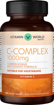 Vitamin World C-Complex 1000 mg. 100 Caplets
