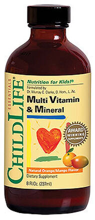 ChildLife Children's Liquid Multivitamins & Minerals 8 oz. Liquid Orange/Mango