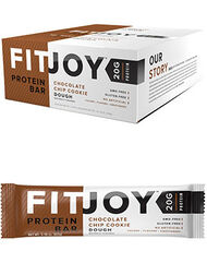 FitJoy FitJoy Protein Bars Chocolate Chip Cookie Dough 12 Bars