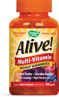 Fruit Nature's Way Alive Multi-Vitamin Adult Gummies 90 Gummies Fruit