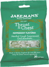 Jakemans® Throat and Chest Lozenges Peppermint, , hi-res