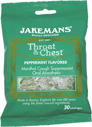 Jakemans® Confectioners Jakemans® Throat and Chest Lozenges Peppermint 30 Lozenges