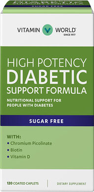 Vitamin World High Potency Diabetic Support Formula