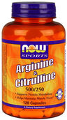 NOW Foods Arginine & Citrulline 120 Capsules