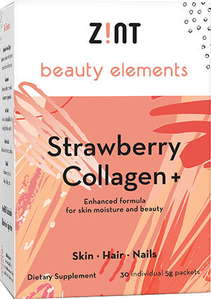 Zint Nutrition Beauty Elements Collagen+ Strawberry 30 Packets