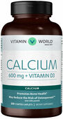 Vitamin World Calcium 600 mg + Vitamin D3 250 caplets