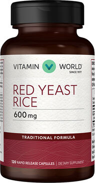 Vitamin World Red Yeast Rice 600 mg. 120 Capsules