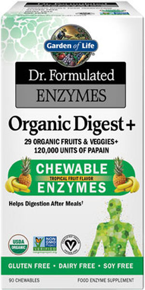 Garden Of Life Dr. Formulated Enzymes Organic Digest+ 90 Tablets