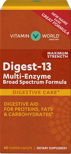 Maximum Strength Digest-13 Multi Enzyme 60 caplets