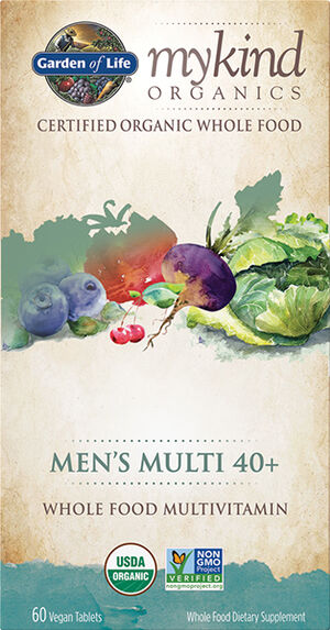 mykind Organics Men's Multivitamins 40+, 60, hi-res