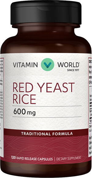 Vitamin World Red Yeast Rice 600 mg. Capsules 120 Capsules 600mg