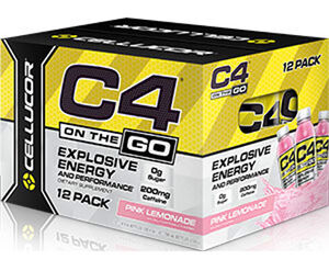 C4® On The Go Preworkout Energy Drinks Pink Lemonade