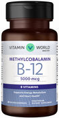 Vitamin World Vitamin B-12 Methylcobalamin 5000 mcg. 30 Lozenges