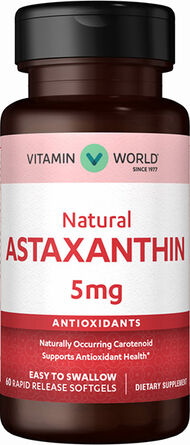 Vitamin World Astaxanthin 5 mg. 60 Softgels