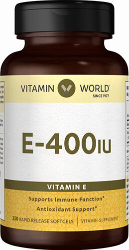 Vitamin World Vitamin E 400IU 250 Softgels 400IU