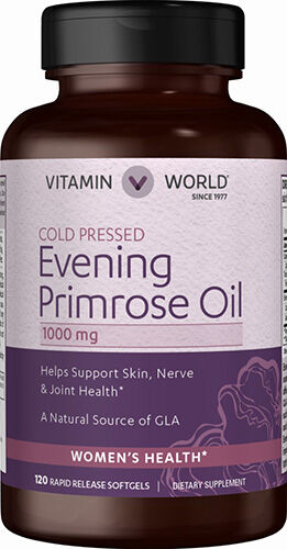 Vitamin World Evening Primrose Oil 1000 mg. 120 Softgels