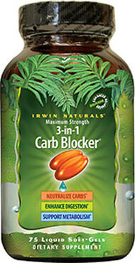 Irwin Naturals Maximum Strength 3-in-1 Carb Blocker™ 75 Softgels