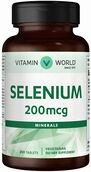 Vitamin World Selenium 200 mcg. 250 Tablets
