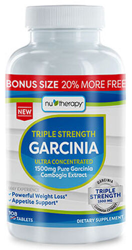NuTherapy® Triple Strength Pure Garcinia Cambogia Extract 1500 mg. 108 Tablets