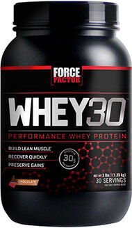 Force Factor Whey30® Performance Whey Protein 3 lbs. Chocolate 3 lbs. Powder